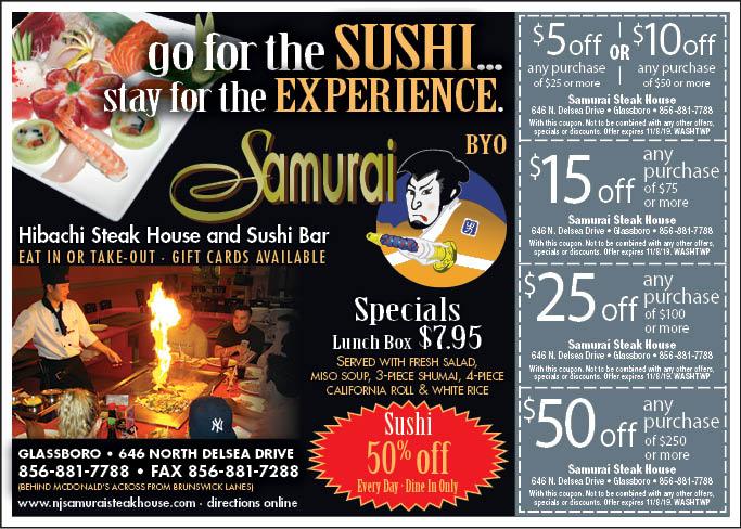 samurai coupons bowling green ky