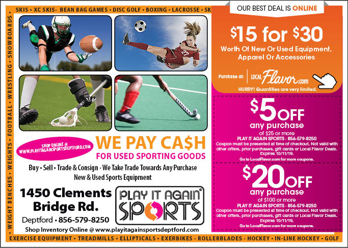 graphic regarding Play It Again Sports Coupons Printable named - Engage in It Back again Sporting activities - $15 For $30 Really worth