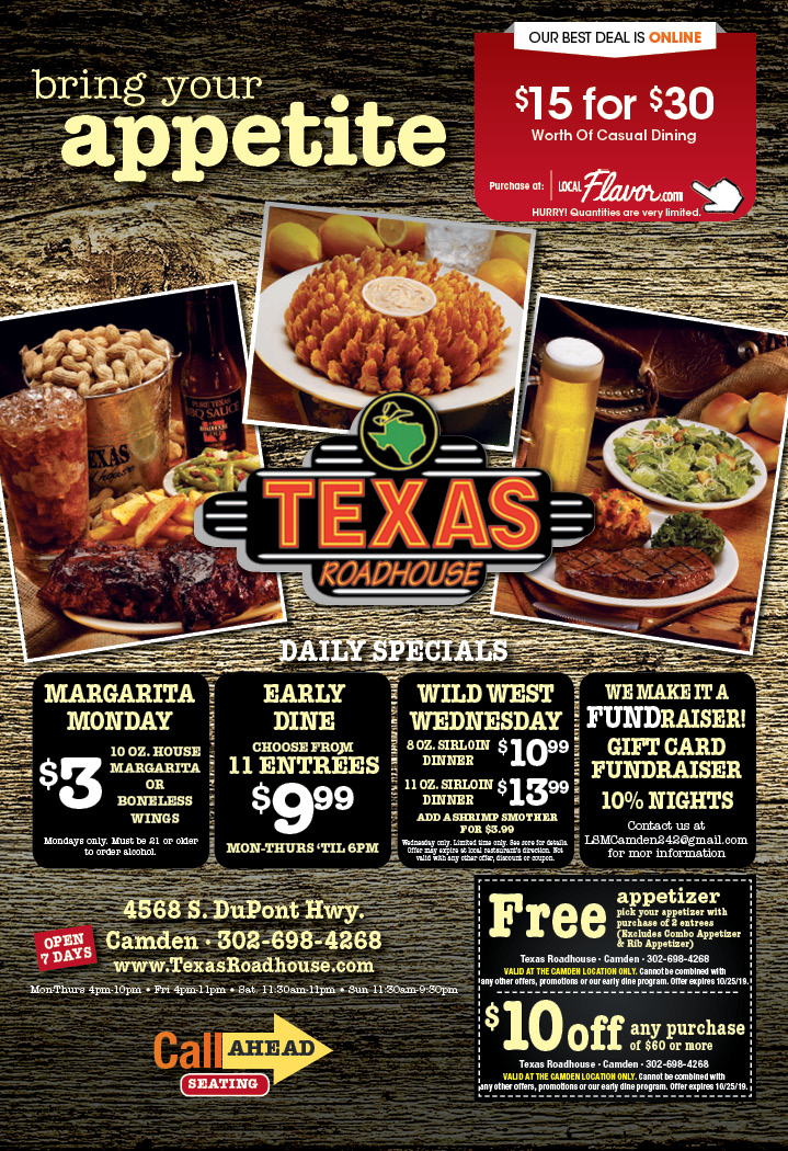 photograph regarding Texas Roadhouse Printable Menu named - Texas Roadhouse Discount codes