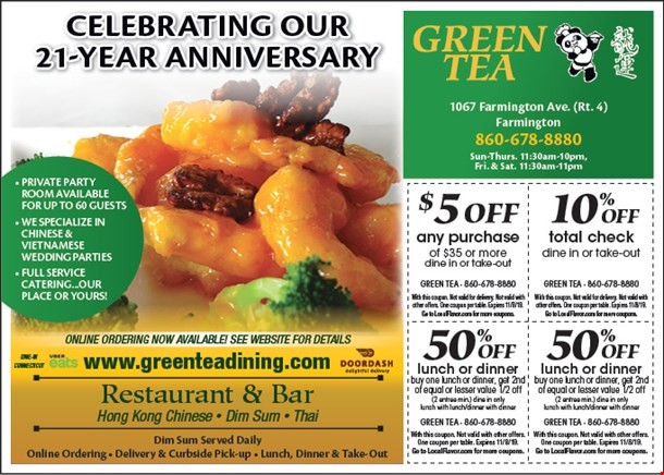 Localflavor Com Green Tea Chinese Restaurant Coupons