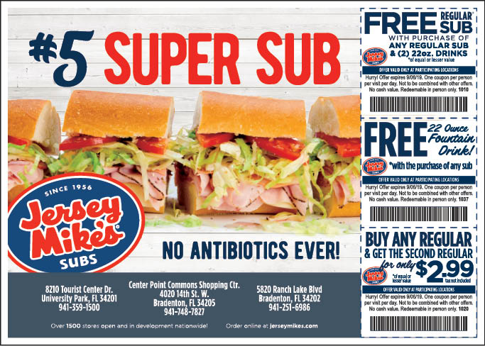 photo about Jersey Mike's Printable Coupon referred to as - Jersey Mikes - $10 For $20 Importance Of Subs
