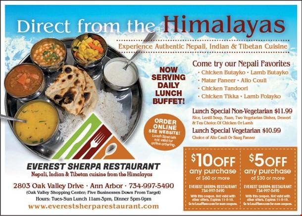 Localflavor Com Everest Sherpa Restaurant Coupons