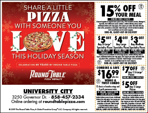 Localflavor Com Round Table Pizza Coupons