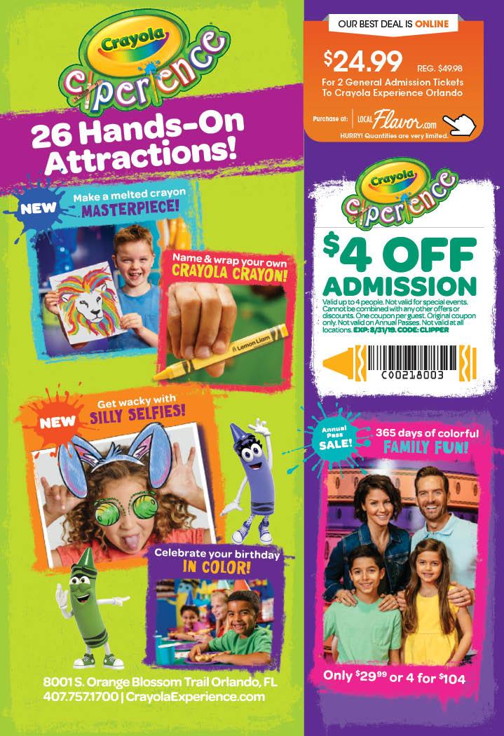 Buy Crayola Experience: Orlando Tickets