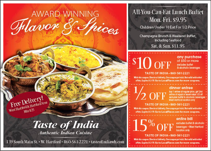 taste of india 2 coupons