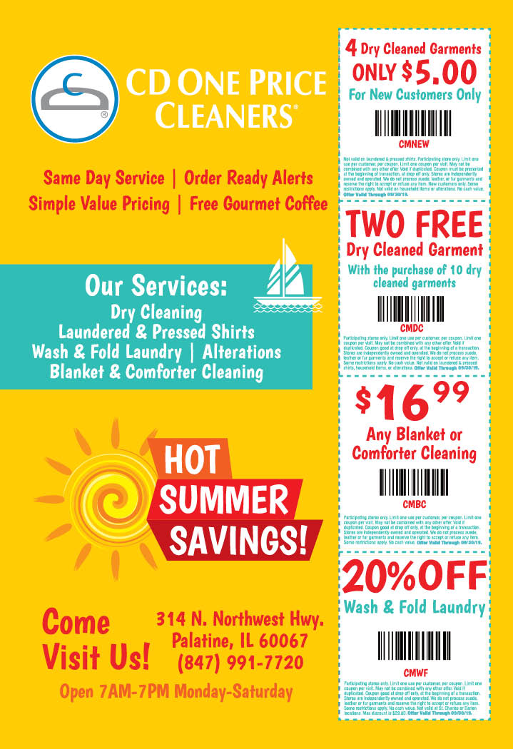 photo regarding Cd One Price Cleaners Coupons Printable identified as - CD One particular Cost Cleaners Discount coupons