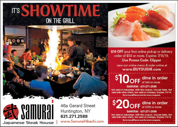 Use These Coupons and Save on Teppenyaki Style Food and Sushi