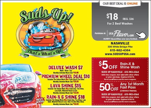 LocalFlavor com - Suds Up! - $18 For 2 Best Washes (Reg  $36