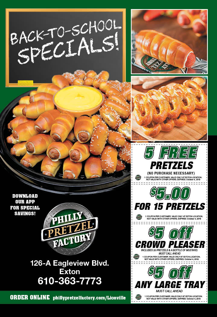 picture relating to Philly Pretzel Factory Coupons Printable named - PHILLY PRETZEL Manufacturing unit Discount codes