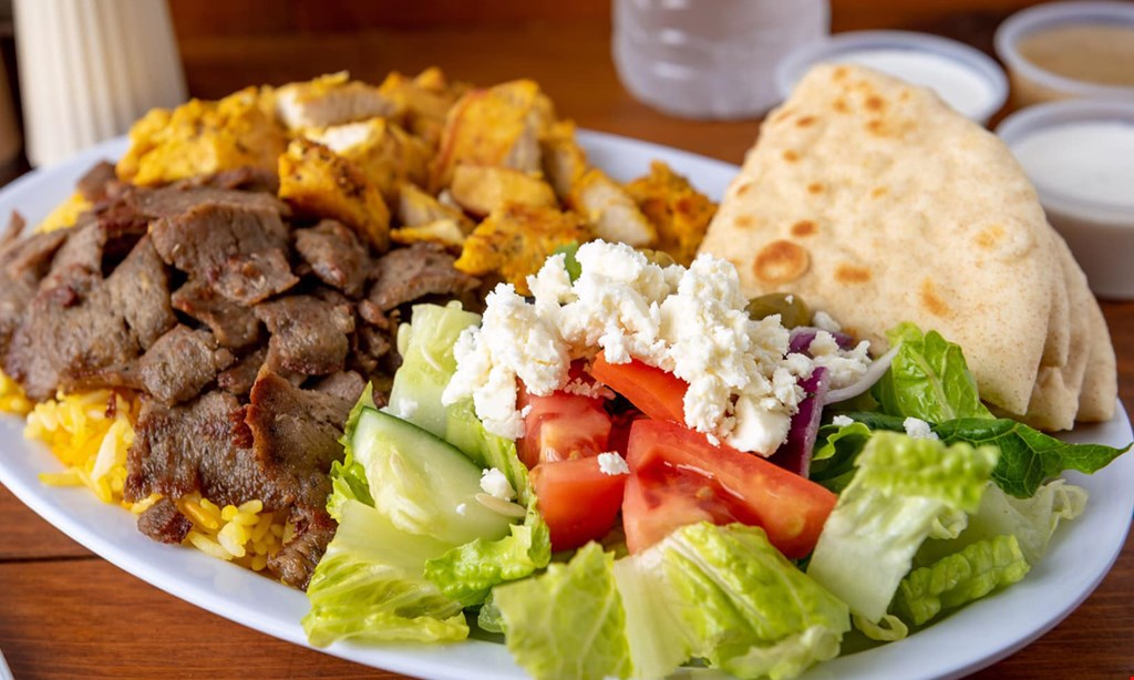 Product image for Greek Plate Gyro $15 for $30 worth of Greek Cuisine