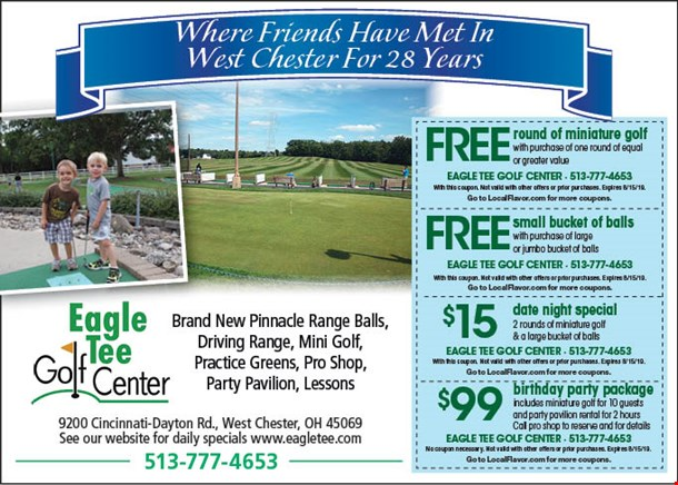 LocalFlavor com - Eagle Tee Golf Center Coupons