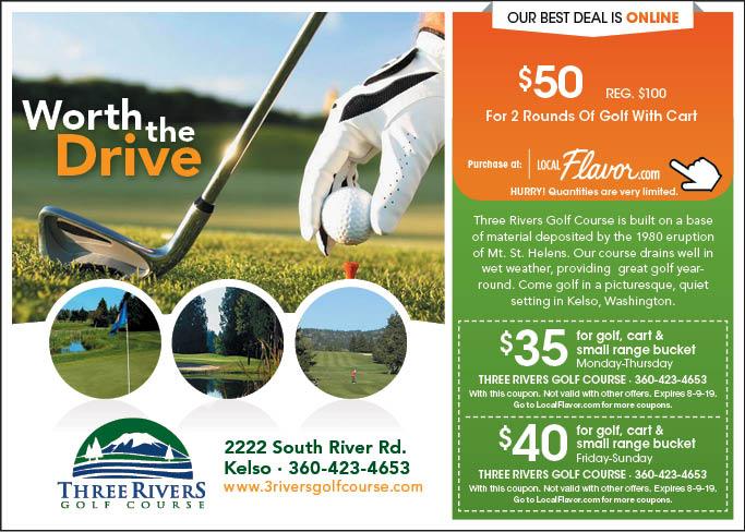 three rivers golf coupon