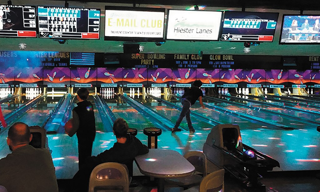 Product image for Hiester Lanes $30 For 2 Hours Of Bowling, Shoe Rentals & 1 Pitcher Of Soda For Up To 6 People On 1 Lane (Reg. $84.45)