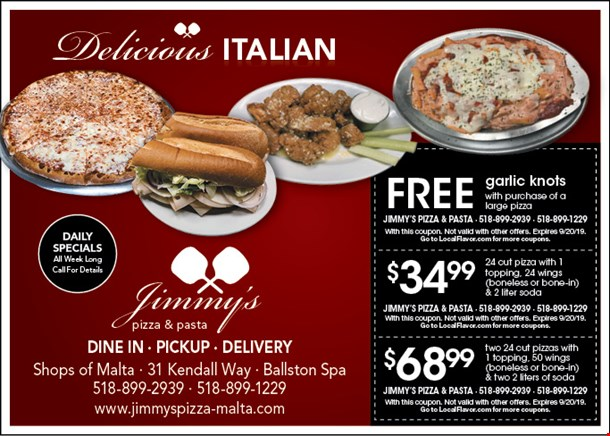 LocalFlavor com - Jimmy's Pizza and Pasta Coupons