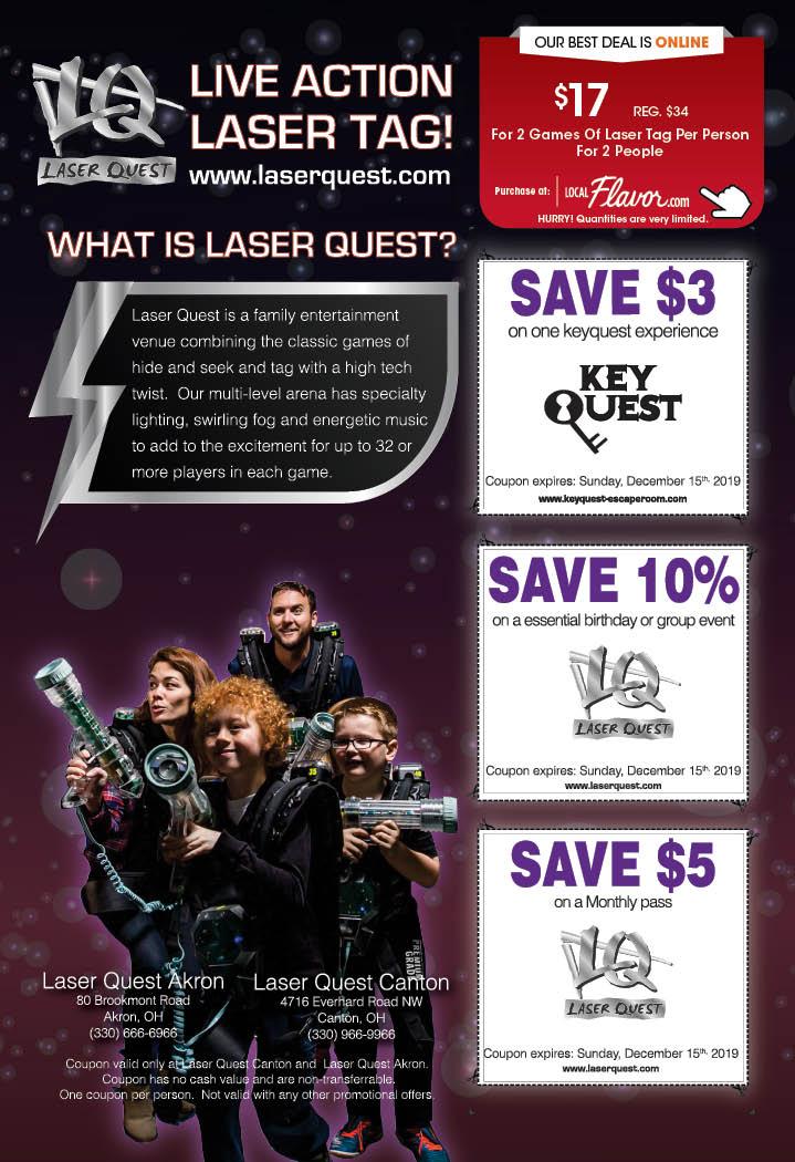 coupon laser quest