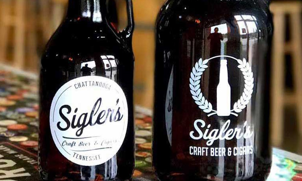 Product image for Sigler's Craft Beer And Cigars $10 for $20 worth of Draft Beer and Growlers