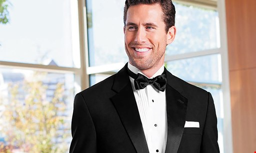 Product image for Tuxedo WearHouse $109.50 For A Complete Tuxedo All Inclusive Rental Package - Includes Coat, Pants, Vest, Tie, Shirt & Shoes (Reg. $219)