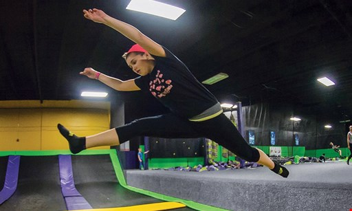 Product image for Get Air Trampoline Park $24.99 For 2 Hours Of Jump Time For 2 People With Jump Socks (Reg. $49.98)