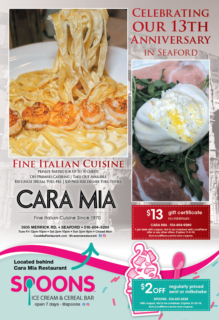 cara mia restaurant coupons
