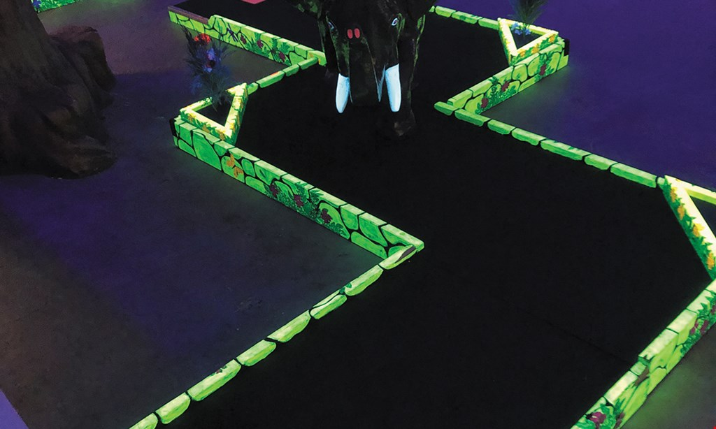 Product image for Trindle Bowl $36 For 1 Game Each Of Bowling & Mini-Glow Indoor Golf For 4 People, Including Shoe Rental & 4 Large Fountain Sodas (Regularly $72.76)
