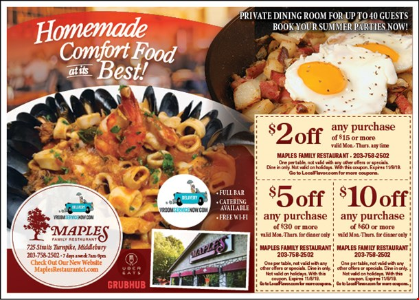 Localflavor Com Maples Family Restaurant Coupons