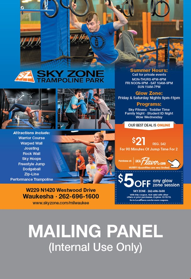 This is a graphic of Modest Sky Zone Printable Coupons 2020