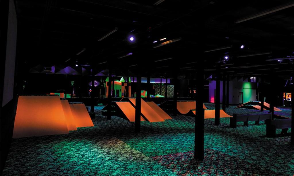 Product image for Fun Slides Carpet Skatepark $15.48 for $30.96 for 2 hours,  2 people Skate time skate rentals