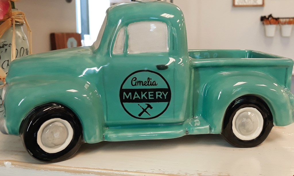 Product image for Amelia Makery $10 for $20 Worth of Ceramic, Wood Pallet, and Canvas Painting