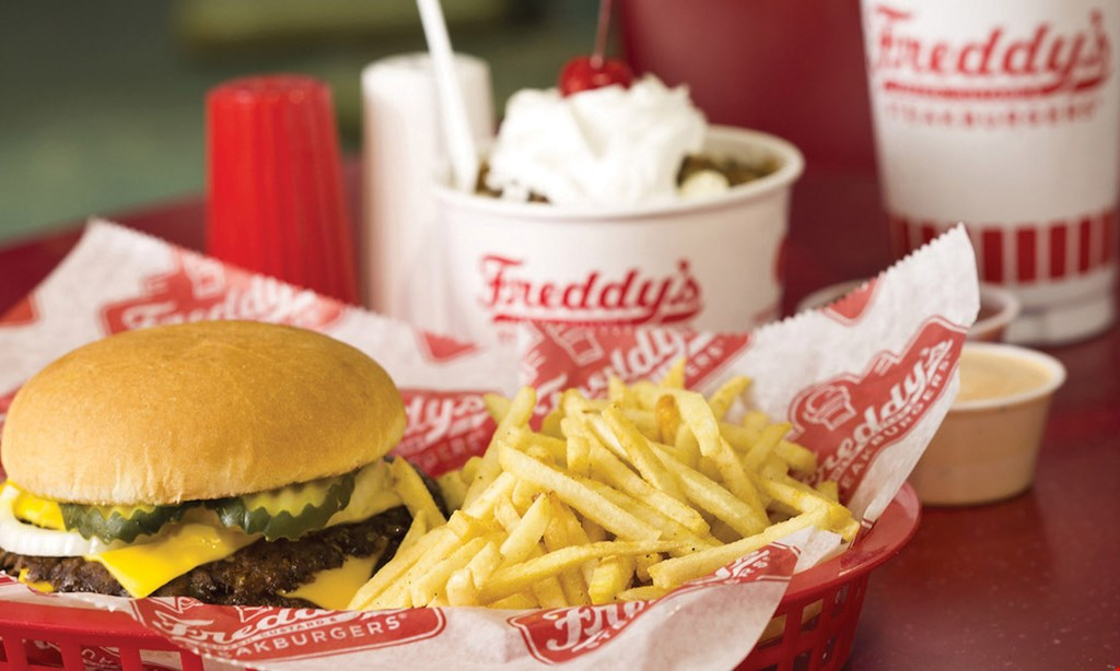 Product image for Freddy's Frozen Custard & Steakburger's Town Center $10 for $20 Worth of Food & Beverage