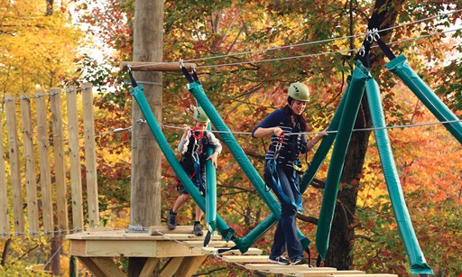 Product image for Refreshing Mountain $58 For Admission For 4 To Flying V Ziplining OR The Elevated Obstacle Course (Reg. $116)