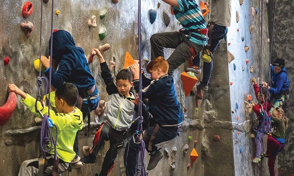 Product image for RocVentures Climbing Gym $35 For Indoor Rock Climbing Day Pass For 2 - Includes Rental Gear & Belay Training Class (Reg. $70)