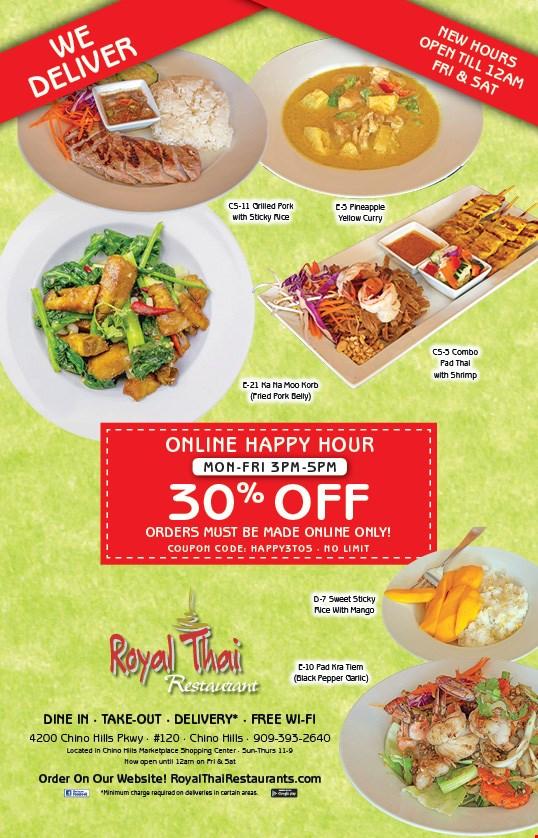 Localflavor Com Royal Thai Restaurant Coupons