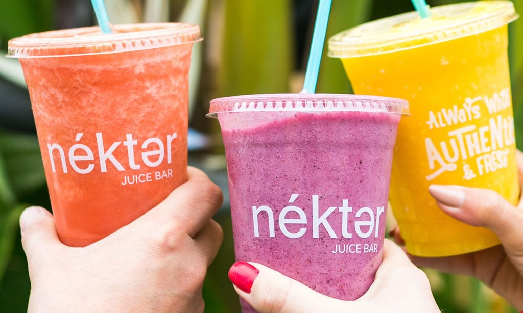 Product image for Nekter Juice Bar $10 for $20 Worth of Smoothies & More