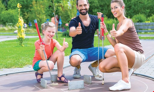 Product image for Mini Golf Connect $14 A Round Of Golf For 4 & 4 Scoops of Ice Cream (Reg. $28)
