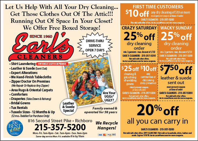coupons earls restaurant
