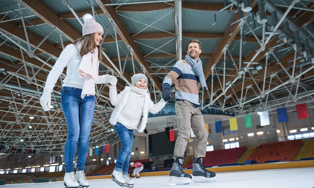 Product image for The Pond Ice Rink $20 For 40 Hours' Worth Of Public Ice Skating For 4 Including Skate Rentals (Reg. $40)