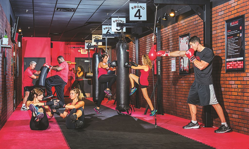 Product image for 9 Round $50 For 10 Cardio Kickboxing Fitness Circuit Training Sessions (Reg. $150)