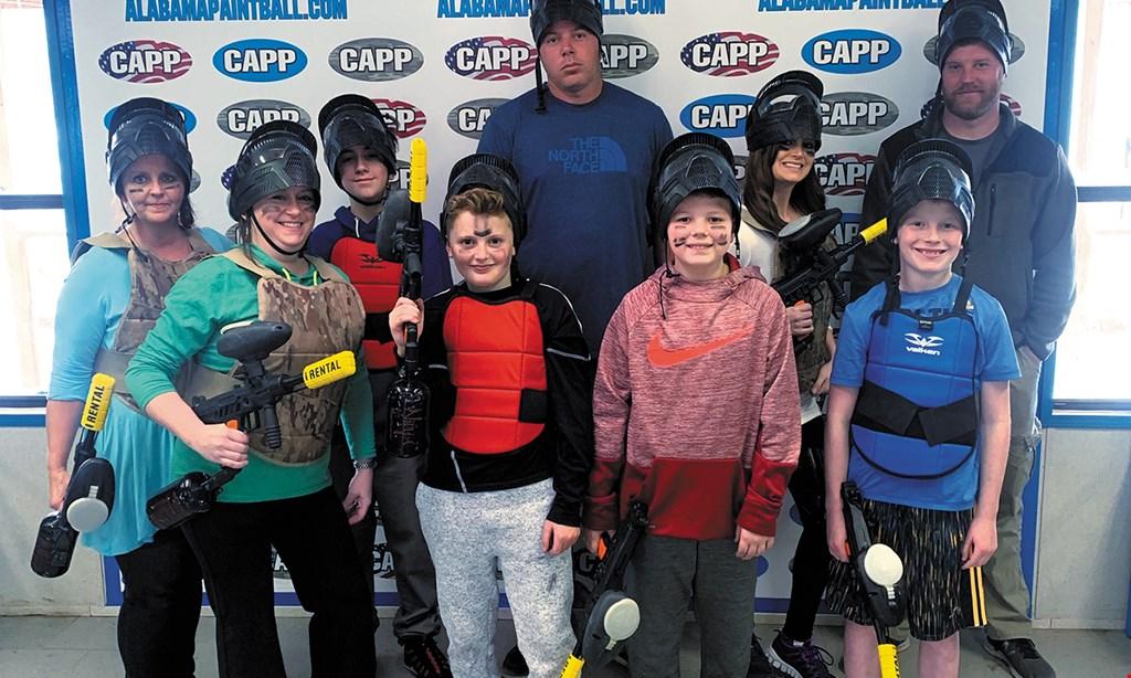 Product image for Central Alabama Paintball Park $17 For Admission For 4 Including Guns & Face Masks (Reg. $96)