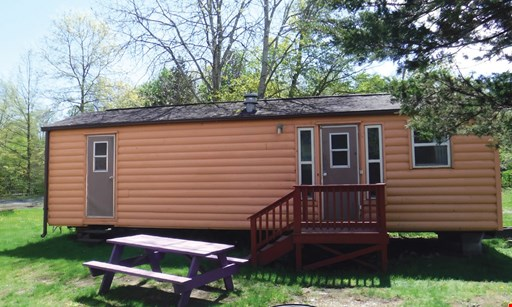 Product image for Brookside Campground $125 For A 2-Night Stay In A Luxury Cabin Sunday - Thursday (Reg. $250)