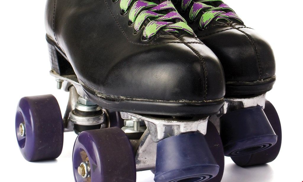 Product image for Airline Skate Center $10 For 2 Skating Admissions Including Skate Rentals (Reg. $20)