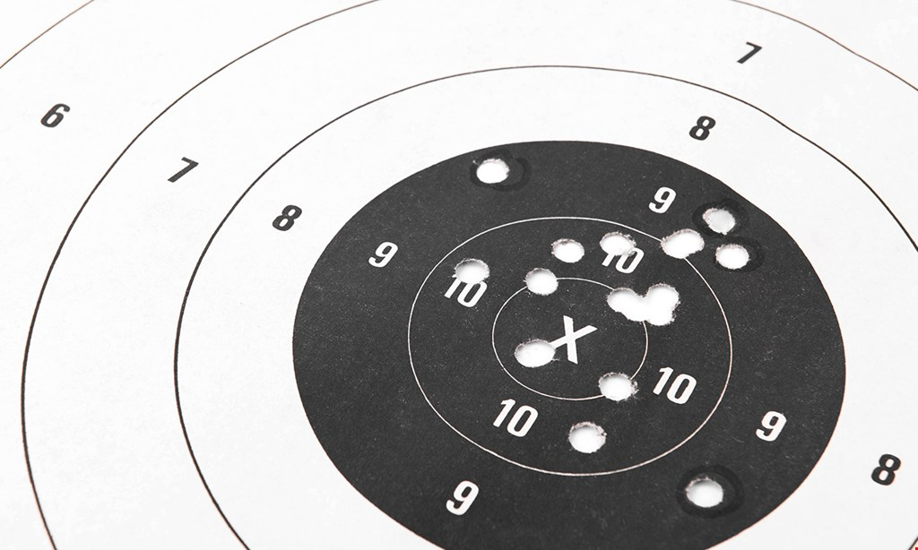 Product image for Bulls Eye Marksman $20 For 1 Hour Of Range Time For 2 People, 1 Rental Gun, 2 Targets & Safety Equipment (Reg. $40)