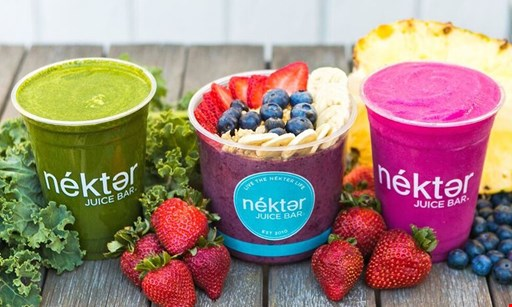 Product image for Nekter Juice Bar $10 for $20.00 Worth of Healthy Food and Beverages