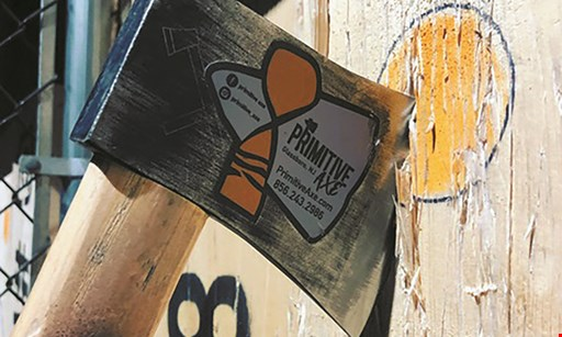 Product image for Primitive Axe $40 For A 2-Hour Axe Throwing Session For 2 People (Reg. $80)
