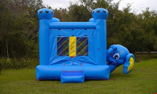 Product image for Celebration Party Rental - Party is our Middle Name $65 for a 13' x 13' Bounce House Rental - Carry Out Special (Reg.$130)