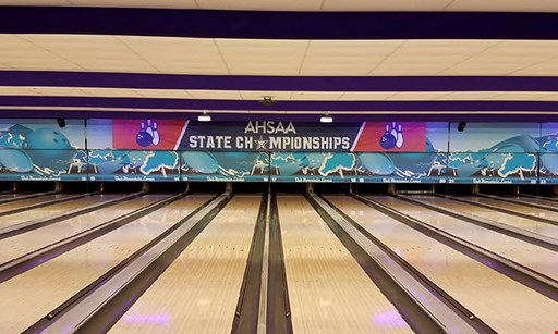Product image for Oak Mountain Lanes $43.50 For 2 Hours Unlimited Bowling For 4 With Rental Shoes (Reg. $87)