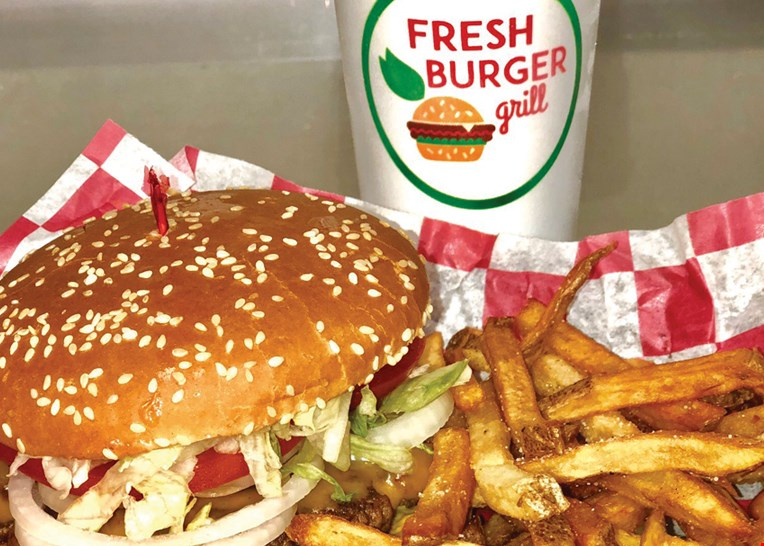 Product image for Fresh Burger Grill Harrison $10 for $20 Worth of Food and Drink