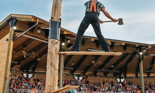 Product image for Paula Deen's Lumberjack Feud Show $50 for 2 Adult Tickets for the Lumberjack Feud Show & Adventure Park (Reg. $100)
