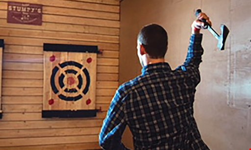 Product image for Stumpy's Hatchet House $50 For 1 Hour Of Axe Throwing For 4 People (Reg. $100)