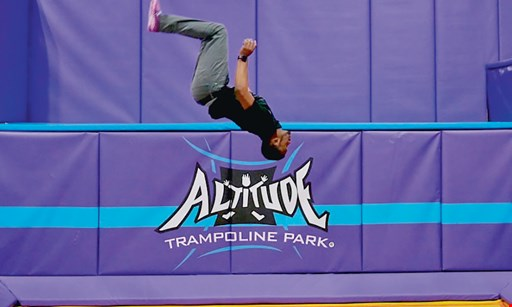 Product image for Altitude Trampoline Park $13.95 For A 60-Minute Jump Session For 2 (Reg. $27.90)