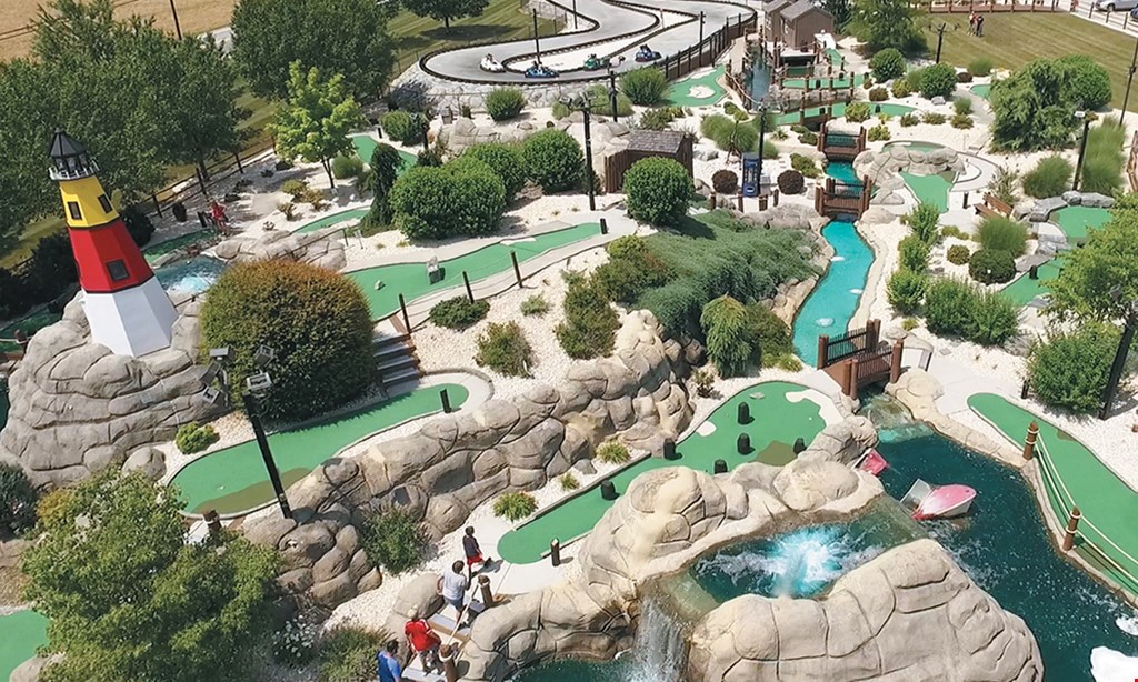 Product image for Hickory Falls Family Entertainment $22 For Pick 2 Attraction Packages For 2 Guests With 2- $10 Game Cards (Reg. $44)